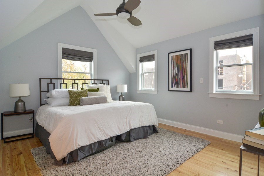 Real Estate Photography - 2538 W Medill Ave, Chicago, IL, 60647 - Master Bedroom