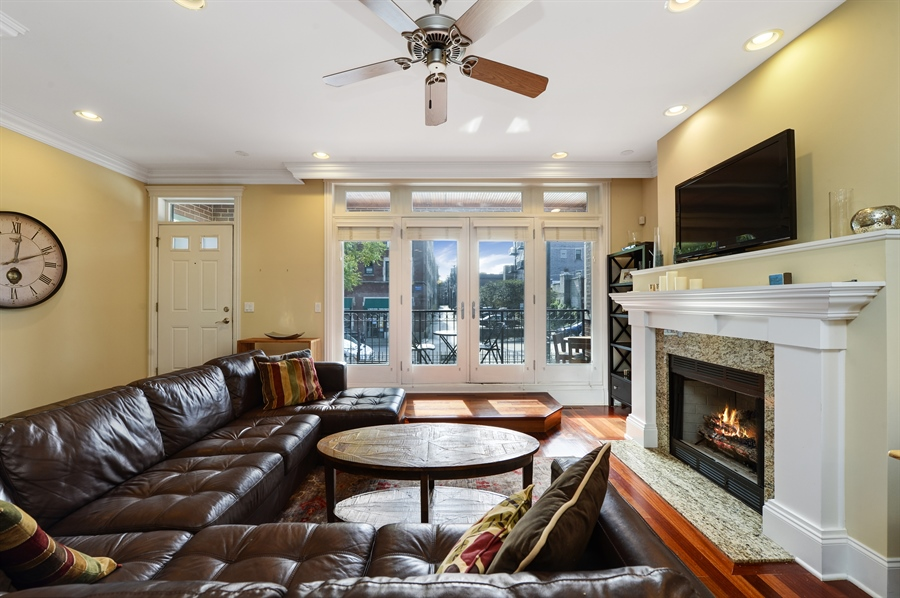 Real Estate Photography - 744 W Belmont Ave, Unit 1F, Chicago, IL, 60657 - Living Room