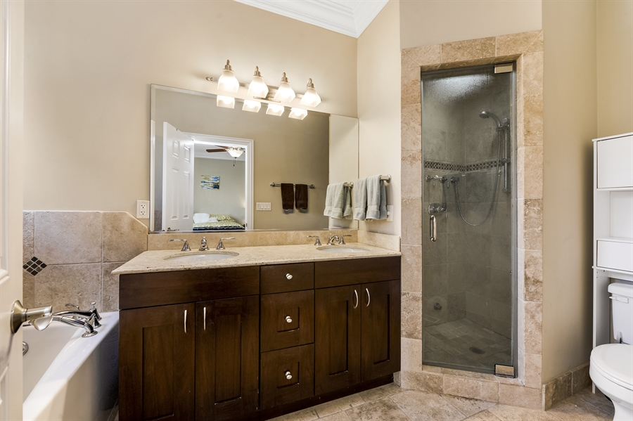 Real Estate Photography - 744 W Belmont Ave, Unit 1F, Chicago, IL, 60657 - Master Bathroom