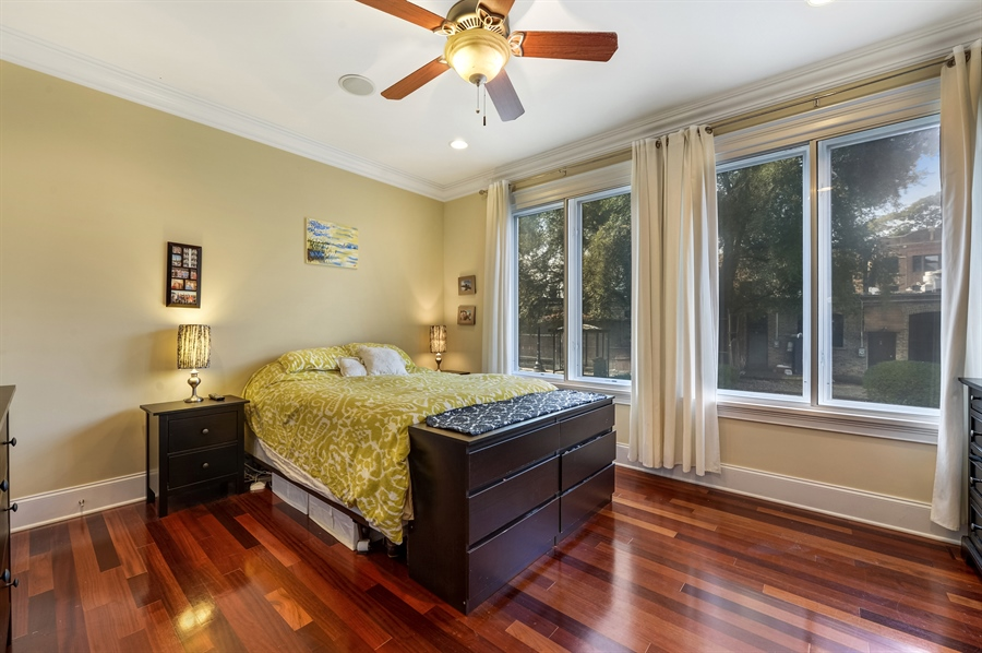 Real Estate Photography - 744 W Belmont Ave, Unit 1F, Chicago, IL, 60657 - Master Bedroom