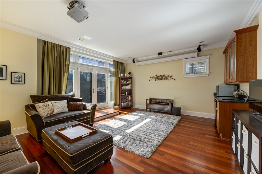 Real Estate Photography - 744 W Belmont Ave, Unit 1F, Chicago, IL, 60657 - Family Room