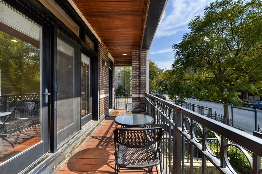 Real Estate Photography - 744 W Belmont Ave, Unit 1F, Chicago, IL, 60657 - Deck