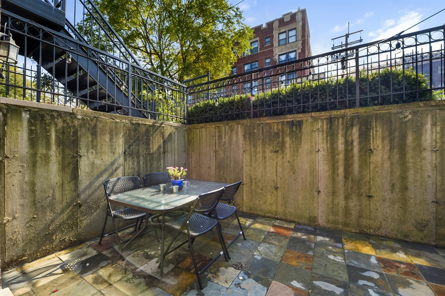 Real Estate Photography - 744 W Belmont Ave, Unit 1F, Chicago, IL, 60657 - Patio
