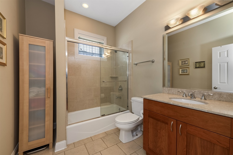 Real Estate Photography - 744 W Belmont Ave, Unit 1F, Chicago, IL, 60657 - 2nd Bathroom