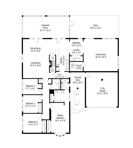 Real Estate Photography - 118 Lockerbie Ln, Wilmette, IL, 60091 - Floor Plan