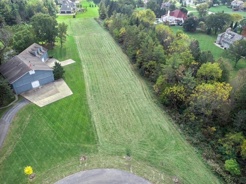 Real Estate Photography - The Glen Lots - South Barrington, Barrington, IL, 60010 - Aerial View