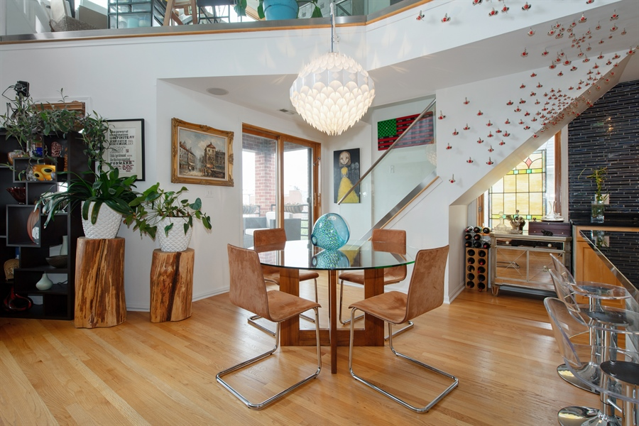 Real Estate Photography - 1373 Hubbard, Unit 4E, Chicago, IL, 60642 - Dining Room