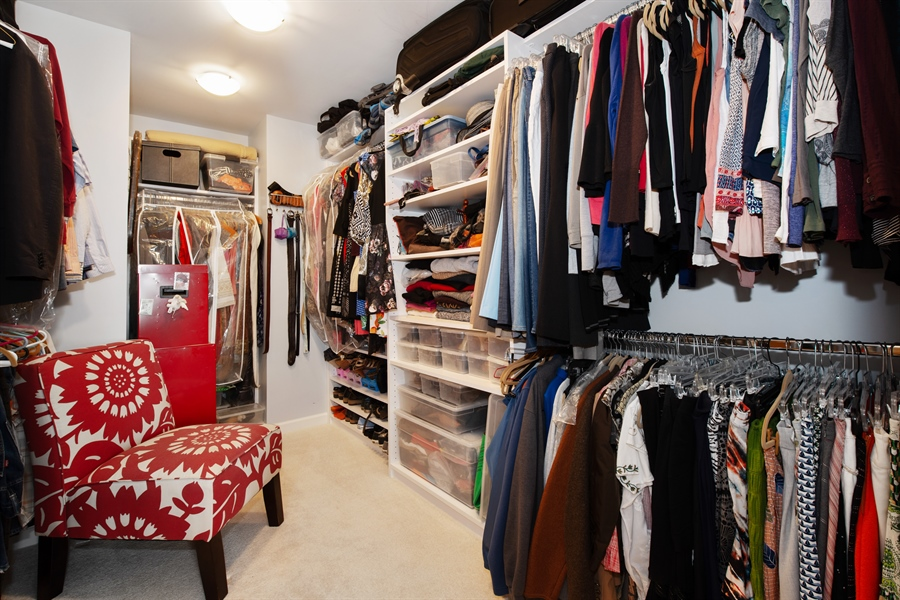 Real Estate Photography - 1373 Hubbard, Unit 4E, Chicago, IL, 60642 - Master Bedroom Closet