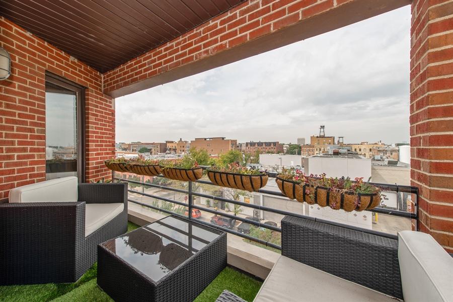 Real Estate Photography - 1373 Hubbard, Unit 4E, Chicago, IL, 60642 - Balcony