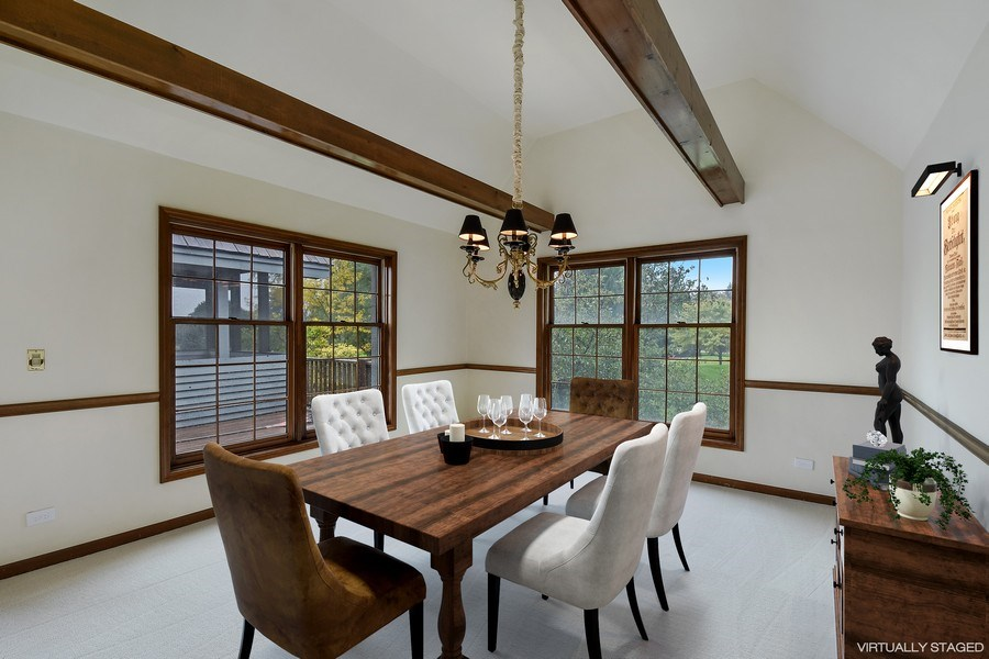 Real Estate Photography - 1 Brookhaven Cir, South Barrington, IL, 60010 - Dining Room