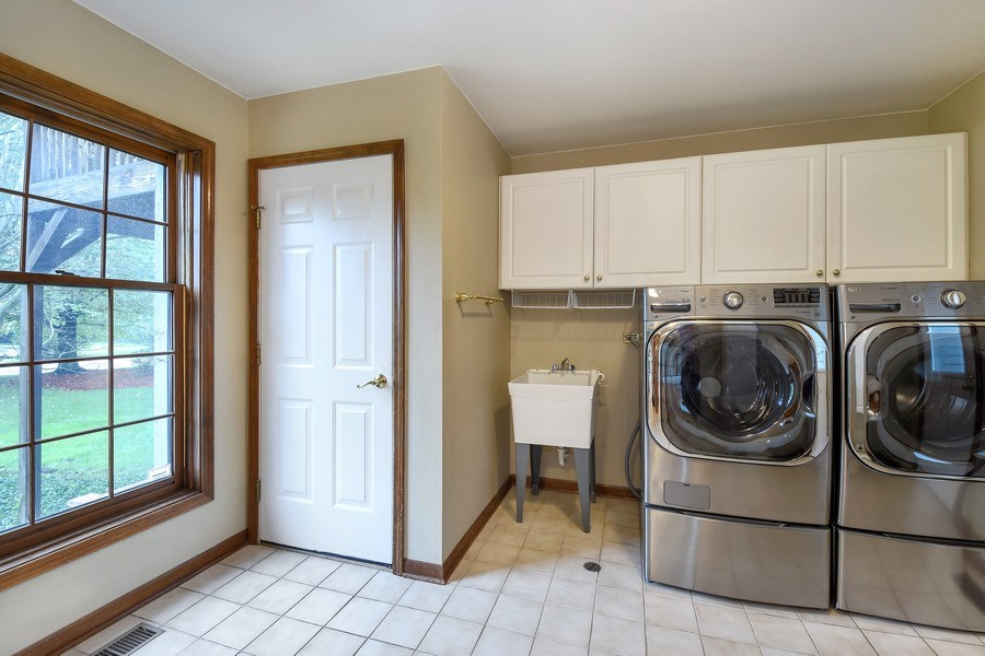 Real Estate Photography - 1 Brookhaven Cir, South Barrington, IL, 60010 - Laundry Room