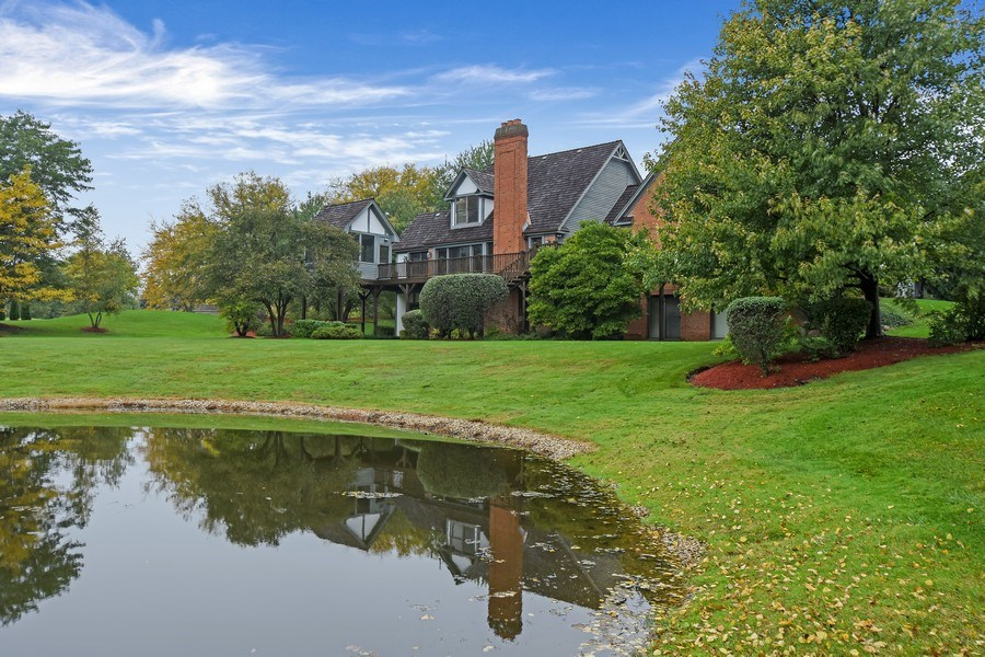 Real Estate Photography - 1 Brookhaven Cir, South Barrington, IL, 60010 - Rear View