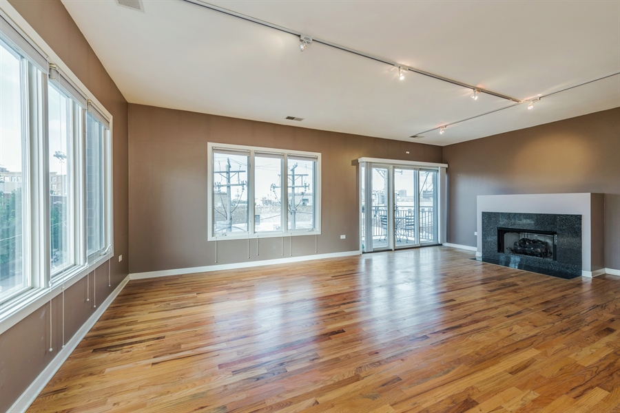 Real Estate Photography - 912 West Chicago Avenue, 201, Chicago, IL, 60642 - Living Room