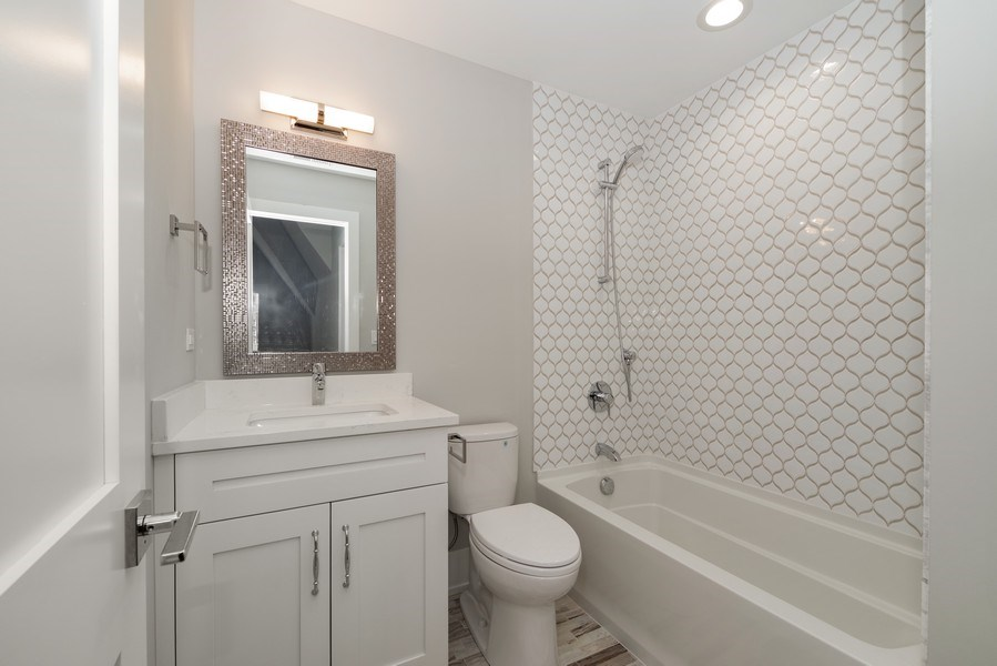 Real Estate Photography - 711 Juniper Rd, Glenview, IL, 60026 - 3rd Bathroom