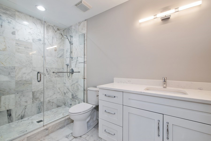 Real Estate Photography - 711 Juniper Rd, Glenview, IL, 60026 - 5th Bathroom
