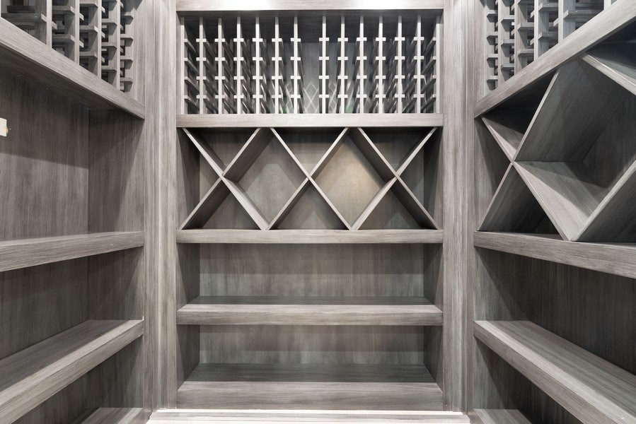 Real Estate Photography - 711 Juniper Rd, Glenview, IL, 60026 - wine cellar