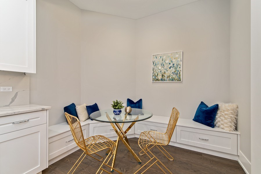 Real Estate Photography - 711 Juniper Rd, Glenview, IL, 60026 - Breakfast Area