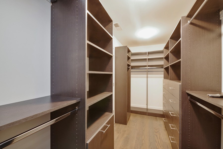 Real Estate Photography - 711 Juniper Rd, Glenview, IL, 60026 - Master Bedroom Closet