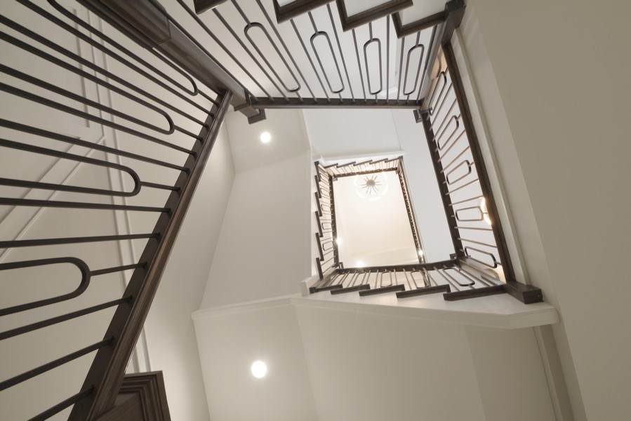 Real Estate Photography - 711 Juniper Rd, Glenview, IL, 60026 - Staircase