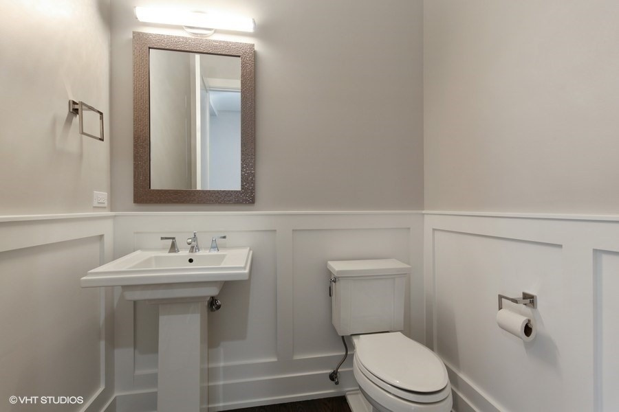 Real Estate Photography - 711 Juniper Rd, Glenview, IL, 60026 - Powder Room