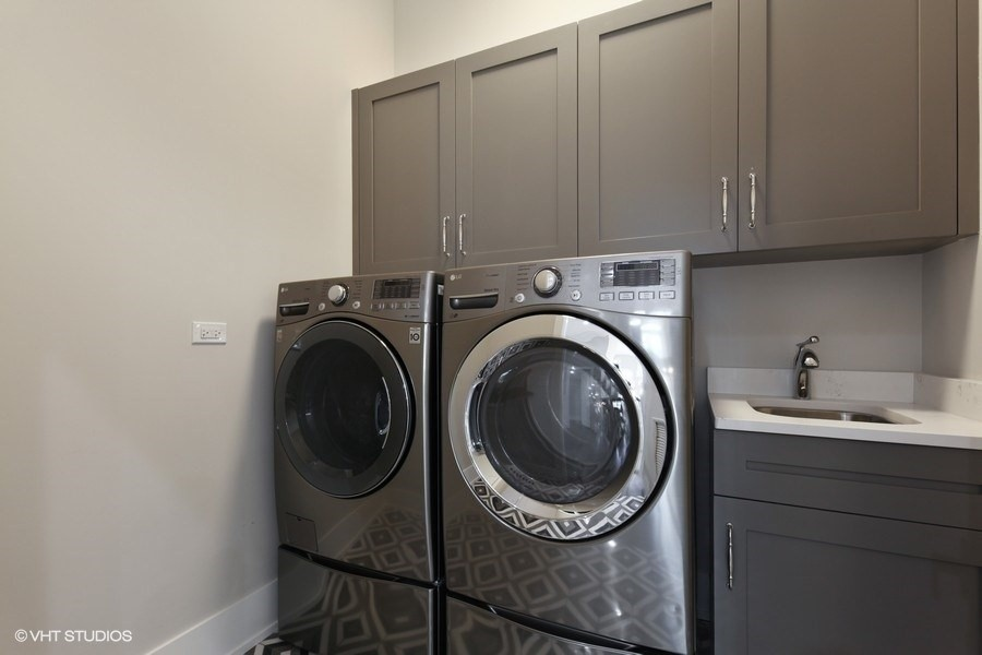 Real Estate Photography - 711 Juniper Rd, Glenview, IL, 60026 - 2nd Floor Laundry Room