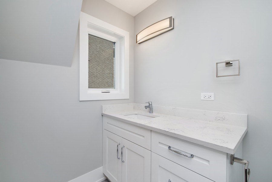 Real Estate Photography - 711 Juniper Rd, Glenview, IL, 60026 - Bathroom