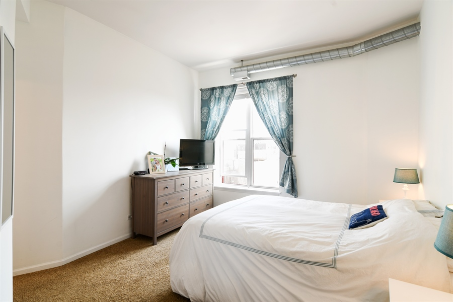 Real Estate Photography - 1645 W. School St., 421, Chicago, IL, 60657 - Master Bedroom