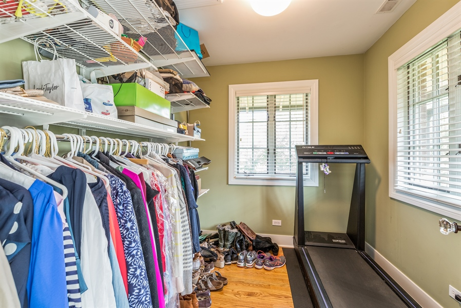 Real Estate Photography - 293 Longcommon Rd, Riverside, IL, 60546 - Master Bedroom Closet