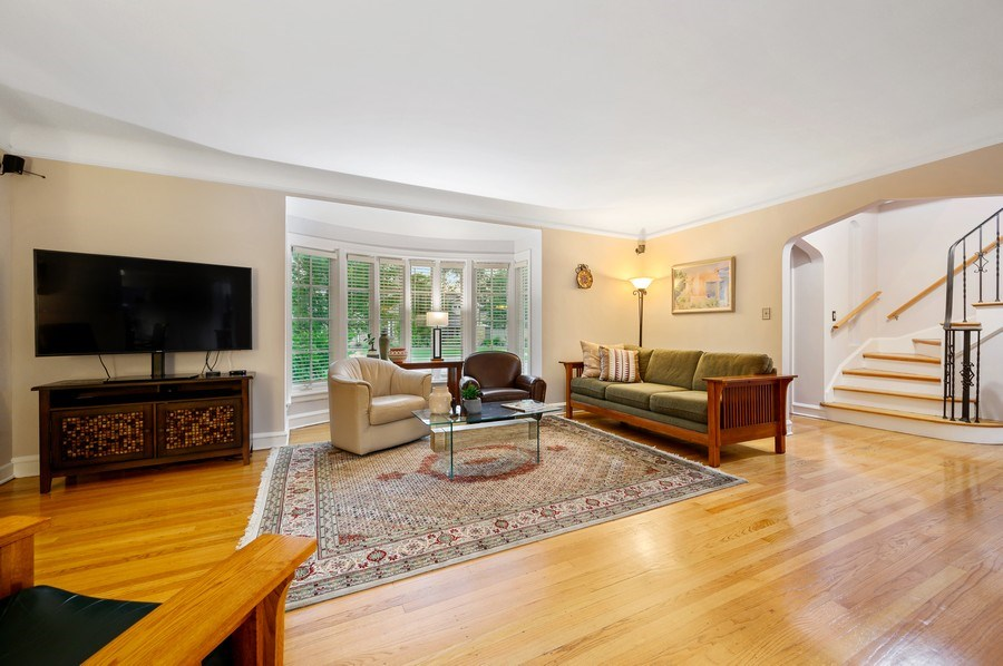Real Estate Photography - 1210 Woodbine Ave, Oak Park, IL, 60302 - Living Room