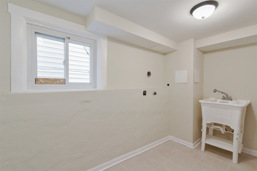 Real Estate Photography - 2341 N Mango, Chicago, IL, 60639 - Laundry Room
