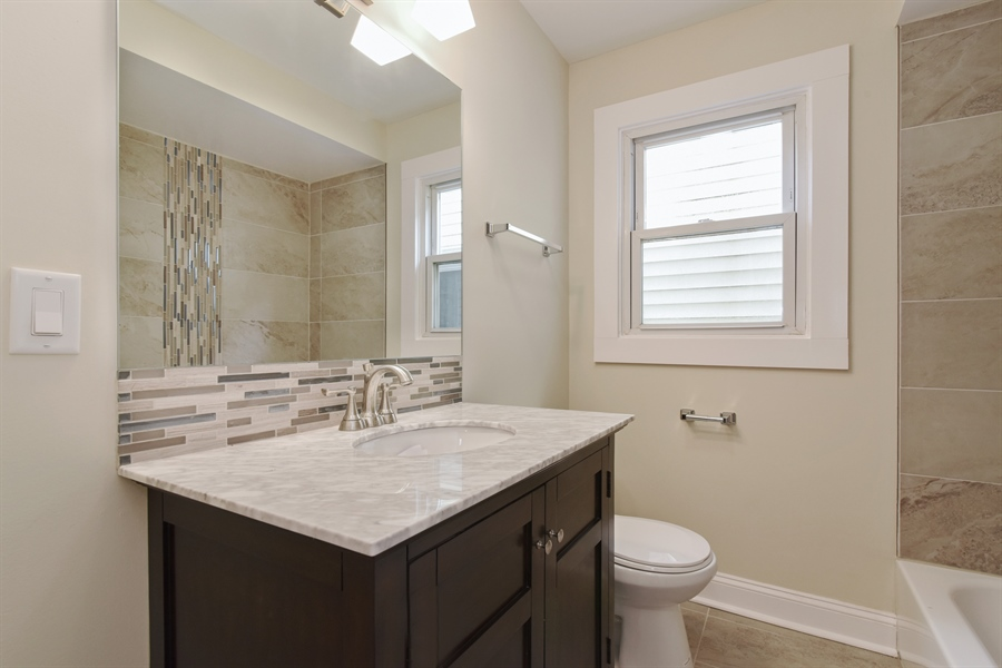 Real Estate Photography - 2341 N Mango, Chicago, IL, 60639 - Bathroom