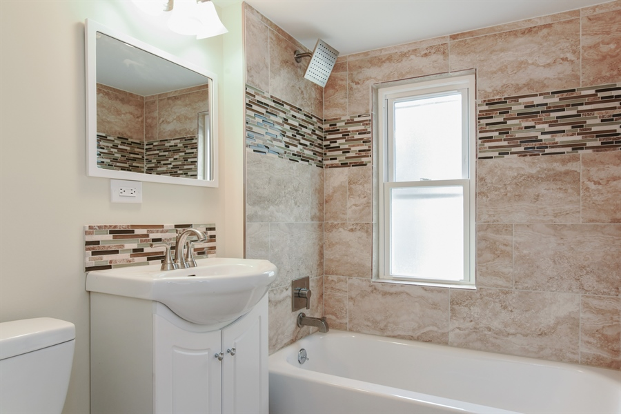 Real Estate Photography - 2341 N Mango, Chicago, IL, 60639 - 2nd Bathroom