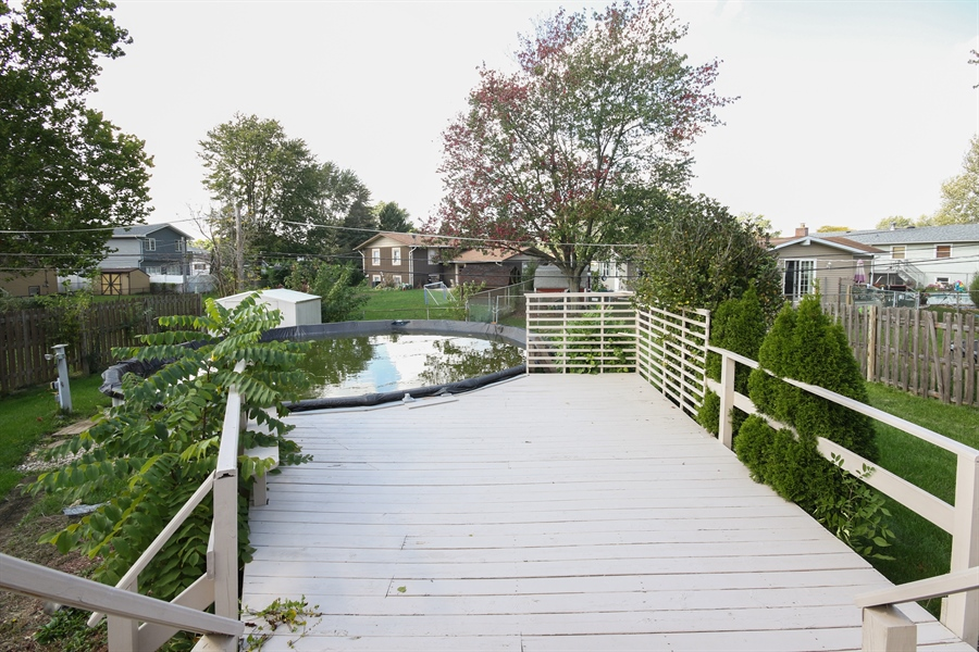 Real Estate Photography - 15254 ventura, Oak Forest, IL, 60425 - Back Yard