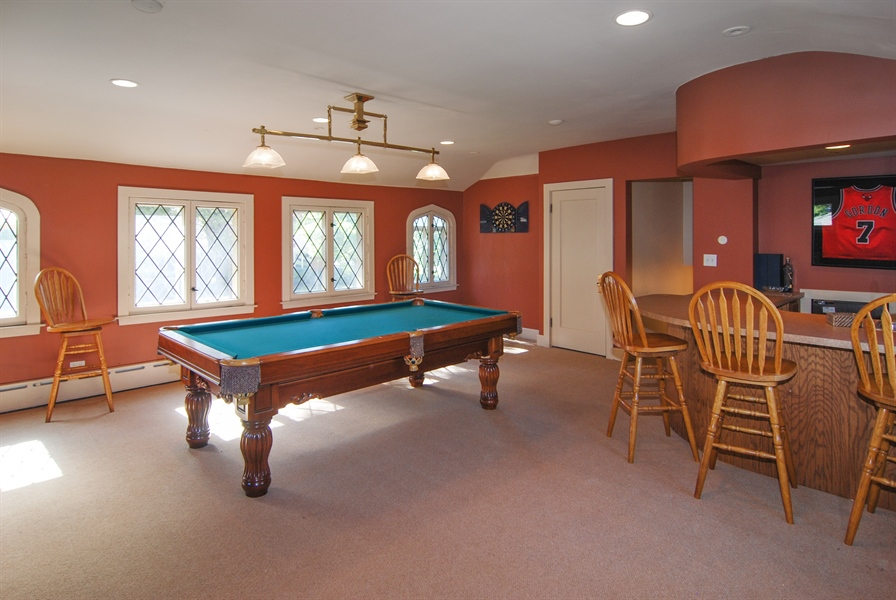 Real Estate Photography - 907 Lathrop, River Forest, IL, 60305 - Recreational Room