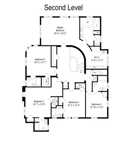 Real Estate Photography - 907 Lathrop, River Forest, IL, 60305 - Floor Plan