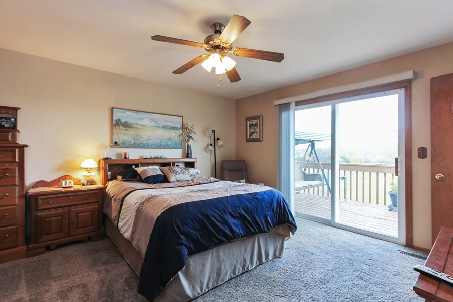 Real Estate Photography - 43411 N Lake Ave, Antioch, IL, 60002 - Master Bedroom