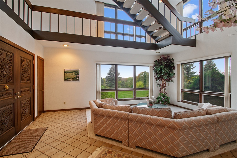 Real Estate Photography - W3460 Mcdonald Rd., Lake Geneva, WI, 53147 - Living Room