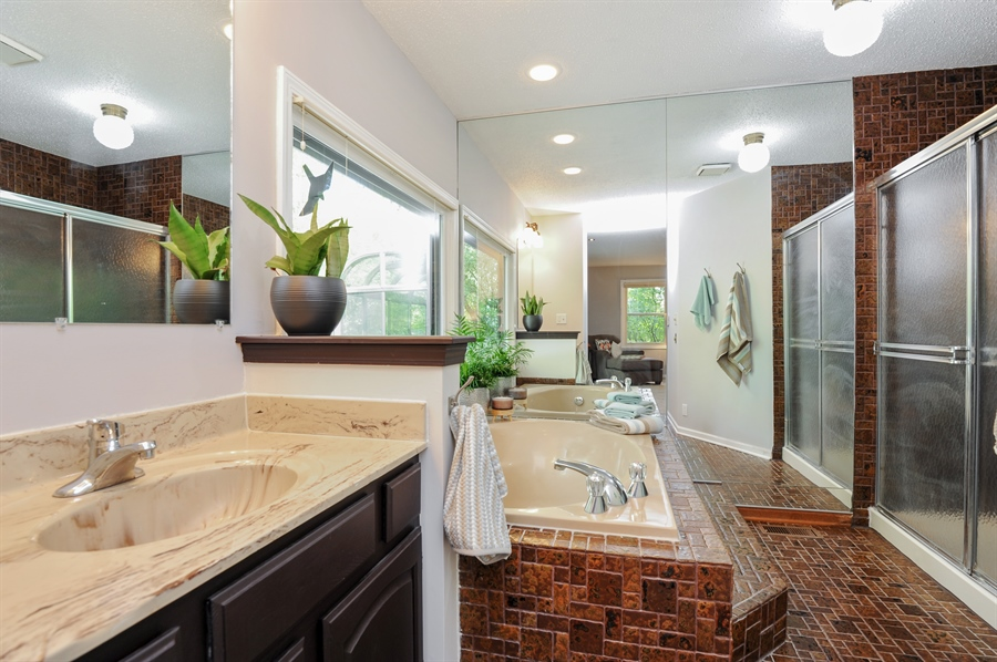 Real Estate Photography - 1828 White Fence, Green Oaks, IL, 60048 - Master Bathroom