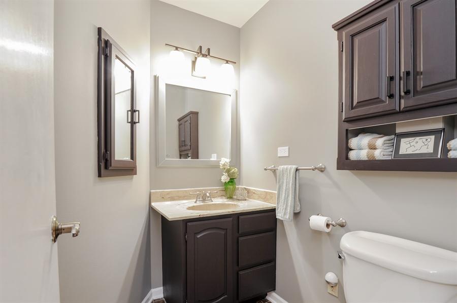 Real Estate Photography - 1828 White Fence, Green Oaks, IL, 60048 - Powder Room