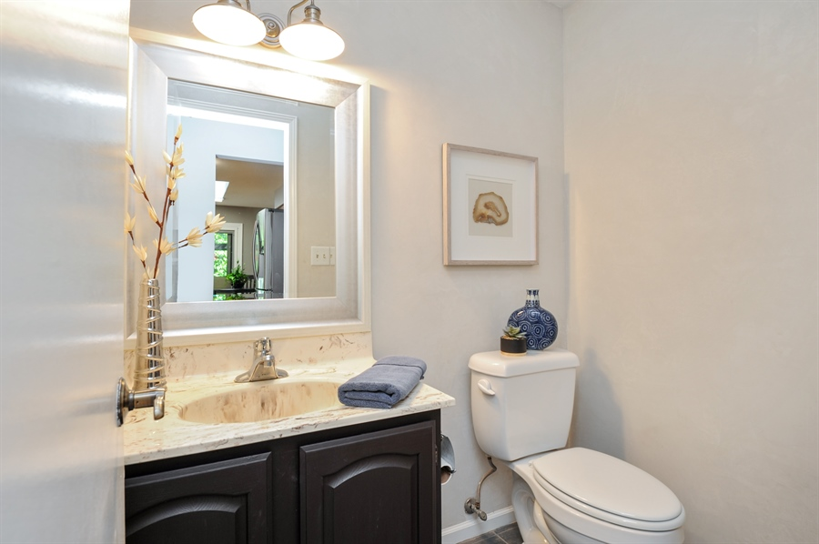Real Estate Photography - 1828 White Fence, Green Oaks, IL, 60048 - Bathroom