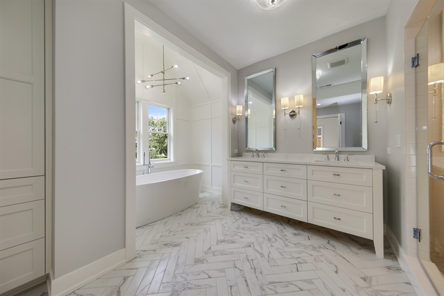 Real Estate Photography - 135 Willow, Elmhurst, IL, 60126 - Master Bathroom