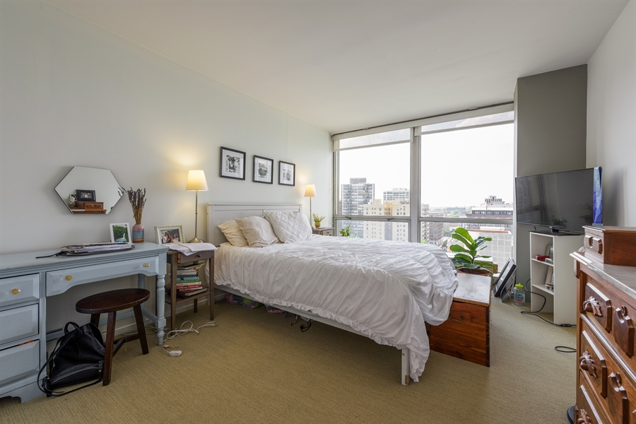 Real Estate Photography - 330 W. Diversey Ave., 1402, Chicago, IL, 60657 - Master Bedroom