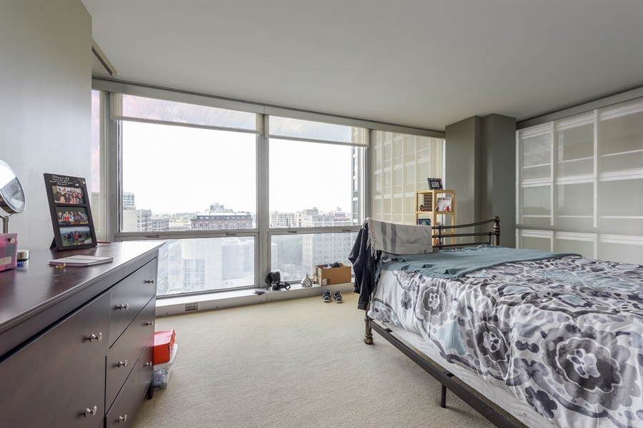 Real Estate Photography - 330 W. Diversey Ave., 1402, Chicago, IL, 60657 - 2nd Bedroom