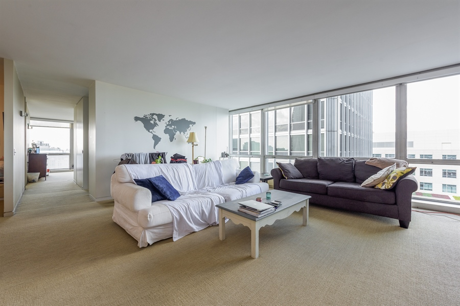 Real Estate Photography - 330 W. Diversey Ave., 1402, Chicago, IL, 60657 - Living Room