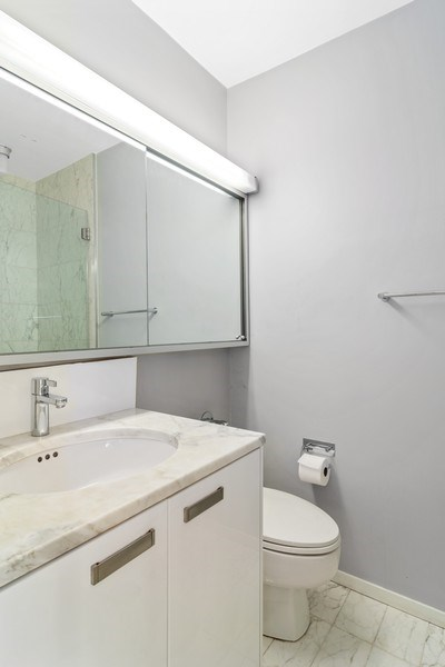 Real Estate Photography - 330 W. Diversey Ave., 1402, Chicago, IL, 60657 - Bathroom