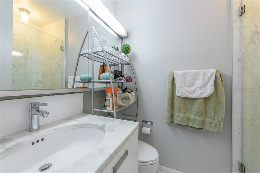 Real Estate Photography - 330 W. Diversey Ave., 1402, Chicago, IL, 60657 - 2nd Bathroom