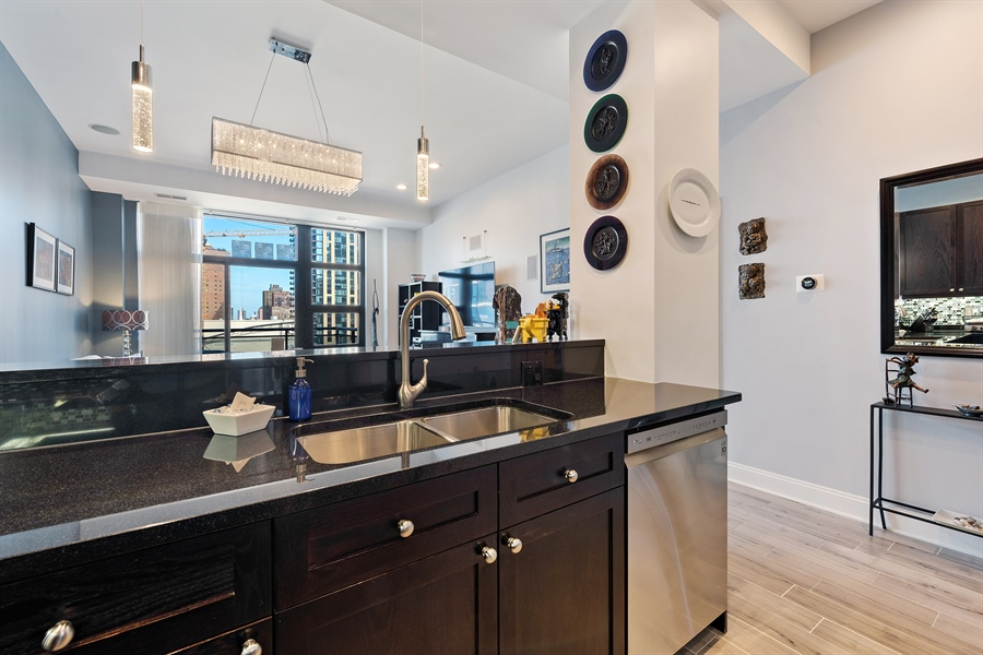 Real Estate Photography - 101 W Superior St, Unit 1203, Chicago, IL, 60654 - Kitchen