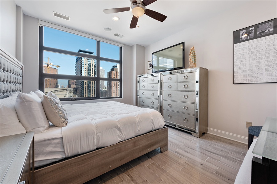 Real Estate Photography - 101 W Superior St, Unit 1203, Chicago, IL, 60654 - Master Bedroom