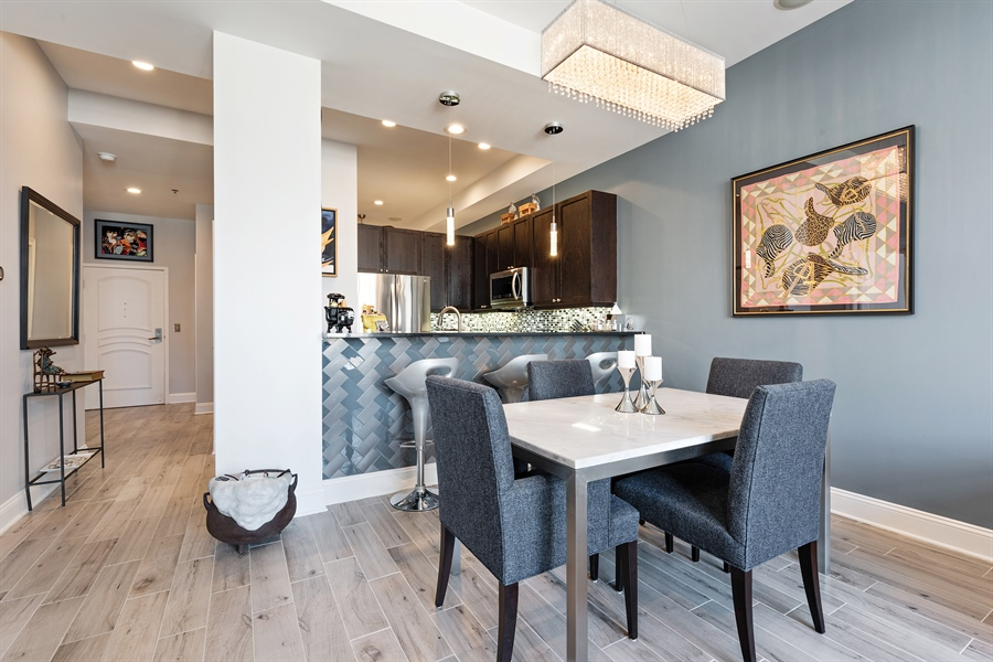 Real Estate Photography - 101 W Superior St, Unit 1203, Chicago, IL, 60654 - Dining Area