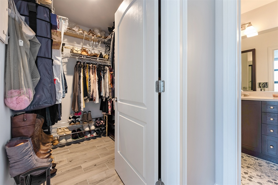 Real Estate Photography - 101 W Superior St, Unit 1203, Chicago, IL, 60654 - Master Bedroom Closet